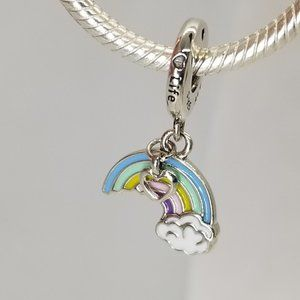 Pandora ALE Silver Rainbow of Love Dangle bead new